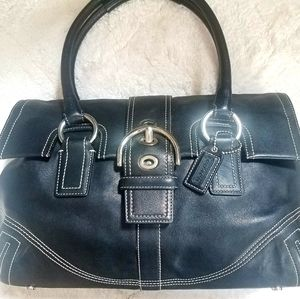 Coach Soho Black Leather Shoulder Bag